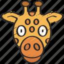 animal, animals, avatars, giraffe, nature, wildlife icon