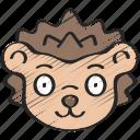 animal, animals, avatars, hedgehog, nature, wildlife icon