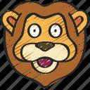 animal, animals, avatars, lion, nature, wildlife icon