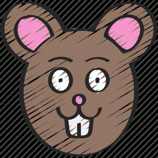 animal, animals, avatars, farm, mouse, wildlife icon