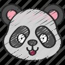 animal, animals, avatars, nature, panda, wildlife icon