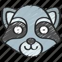 animal, animals, avatars, nature, raccoon, wildlife icon