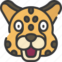animal, animals, avatars, cheetah, nature, wildlife icon
