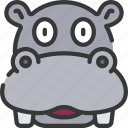 animal, animals, avatars, hippo, nature, wildlife icon