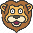 animal, animals, avatars, lion, nature, wildlife icon