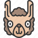 animal, animals, avatars, llama, nature, wildlife icon