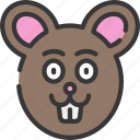 animal, animals, avatars, farm, mouse, wildlife icon