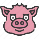 animal, animals, avatars, farm, pig, wildlife icon