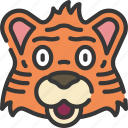 animal, animals, avatars, nature, tiger, wildlife icon