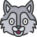 animal, animals, avatars, nature, wildlife, wolf icon