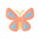 beautiful, butterfly, flower, fly, insect, nature, wings icon