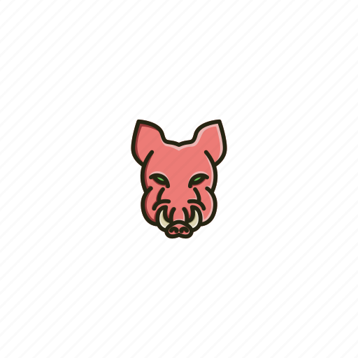 animal, boar, character, face, head, jungle, wild icon