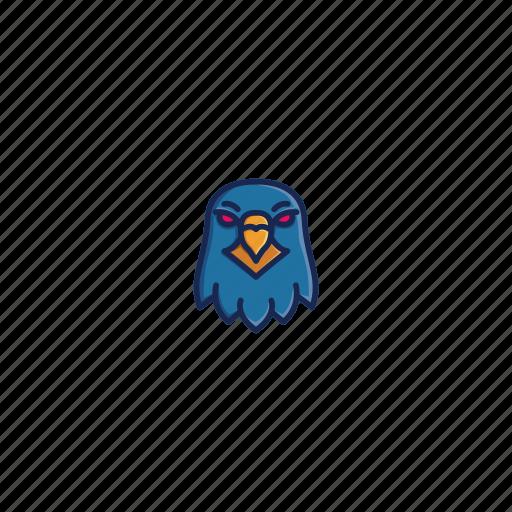 animal, bird, character, eagle, face, head, wild icon
