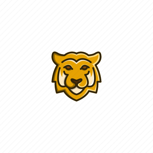 animal, character, face, head, jungle, tiger, wild icon