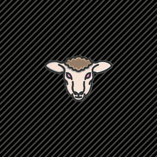 animal, character, face, farm, head, sheep, wool icon