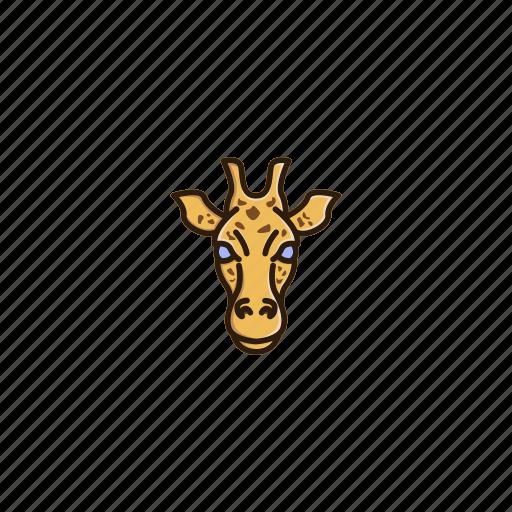 animal, character, face, giraffe, head, jungle, wild icon