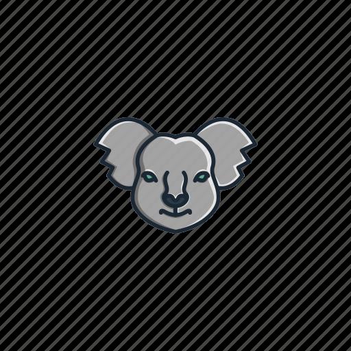 animal, character, face, head, jungle, koala, tree icon