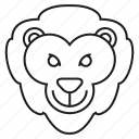 animal, face, lion icon
