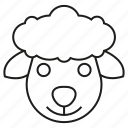 animal, ewe, face, livestock, ram, sheep icon