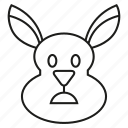 animal, bunny, cony, face, hare, rabbit icon