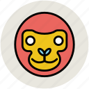 baboon face, cartoon animal, macaque, monkey, monkey face icon