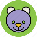 animal, lesser panda, panda, panda bear, panda face icon