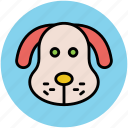 cartoon animal face, cartoon puppy, puppy, puppy face icon