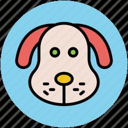 cartoon animal face, cartoon puppy, puppy, puppy face icon