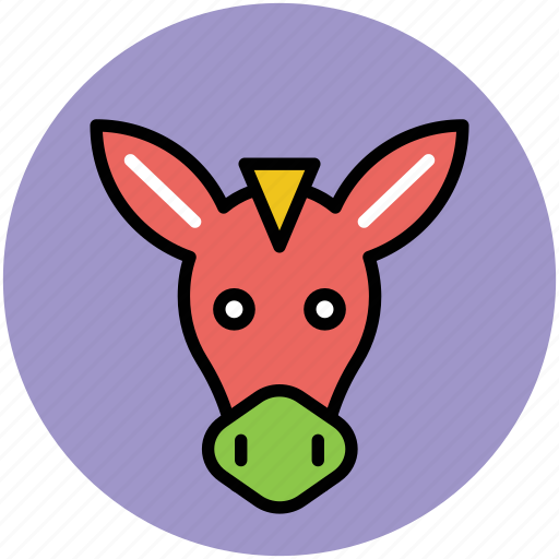 animal, cartoon animal face, horse, horse face, horse head icon