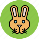 bunny, cony, hare, pika, rabbit, rabbit face icon