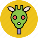 animal, cartoon giraffe, fun, giraffe, giraffe face icon