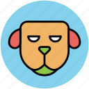 animal, cartoon dog, cur, dog, dog face, mammal icon