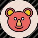 animal, teddy, teddy bear, teddy bear face, teddy face icon