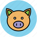 animal, animal face, calf, calf face, mammal icon