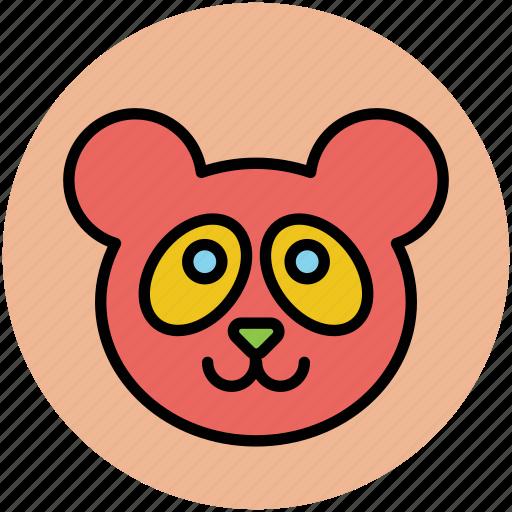 animal, lesser panda, panda, panda bear, panda face icon