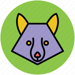 animal, brush wolf, coyote, face, fox, prairie wolf icon