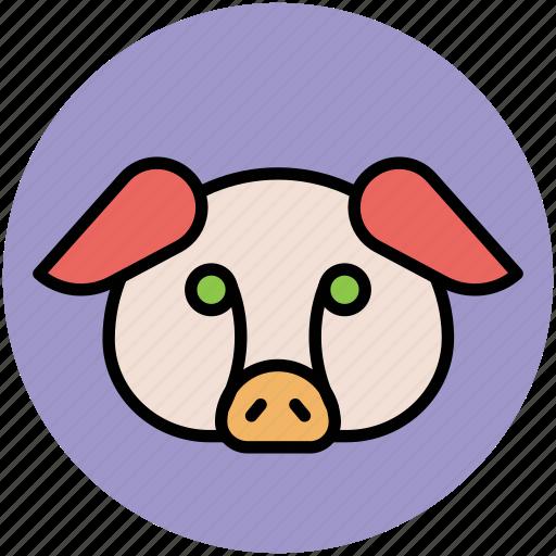 animal, animal face, calf, calf face, mammal icon