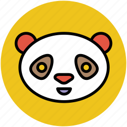 cartoon panda, cartoon panda face, panda, panda face icon