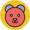 animal, teddy, teddy bear, teddy bear face, teddy face icon