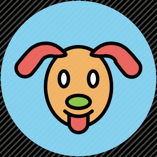 animal, cartoon dog, cur, dog, dog face, mammal icon