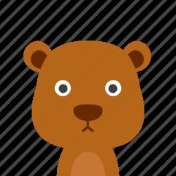 bear, face icon