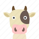 cow, face icon