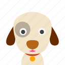 dog, face icon