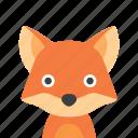 fox, face