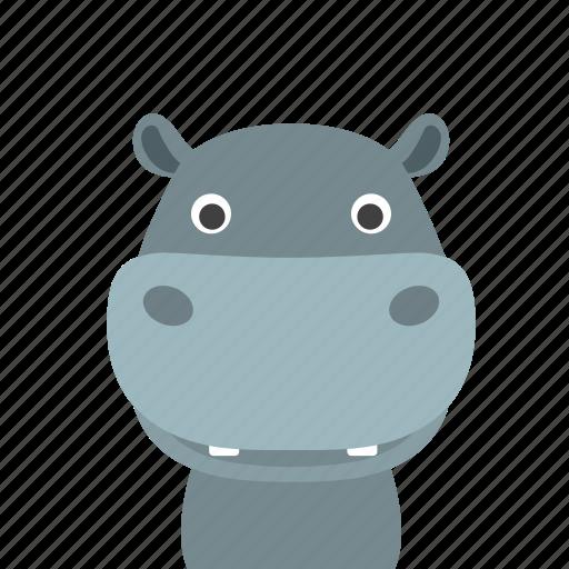 face, hippo icon