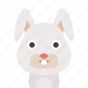 bunny, face, rabbit icon