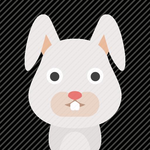 bunny, face, rabbit icon
