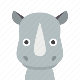 face, rhino, rhinoceros icon