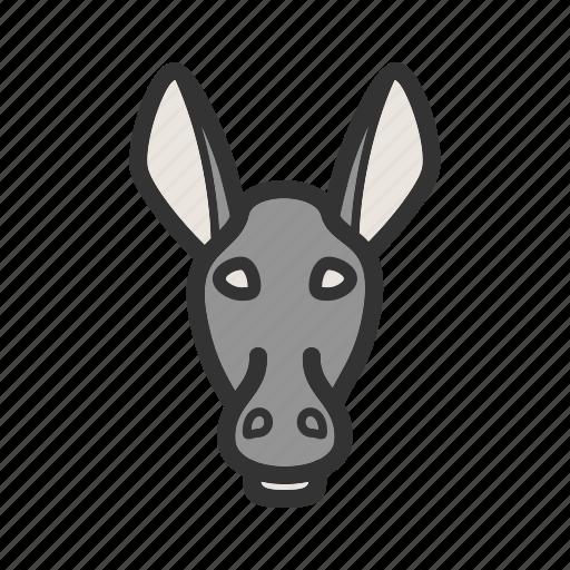 animal, donkey, donkeys, face, farm, mammal, rural icon