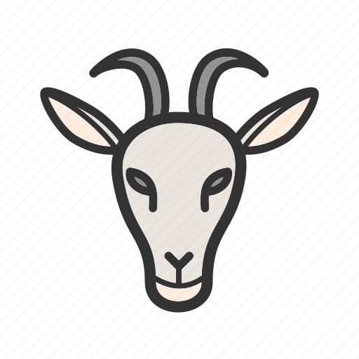 agriculture, animal, face, farm, goat, grass, rural icon